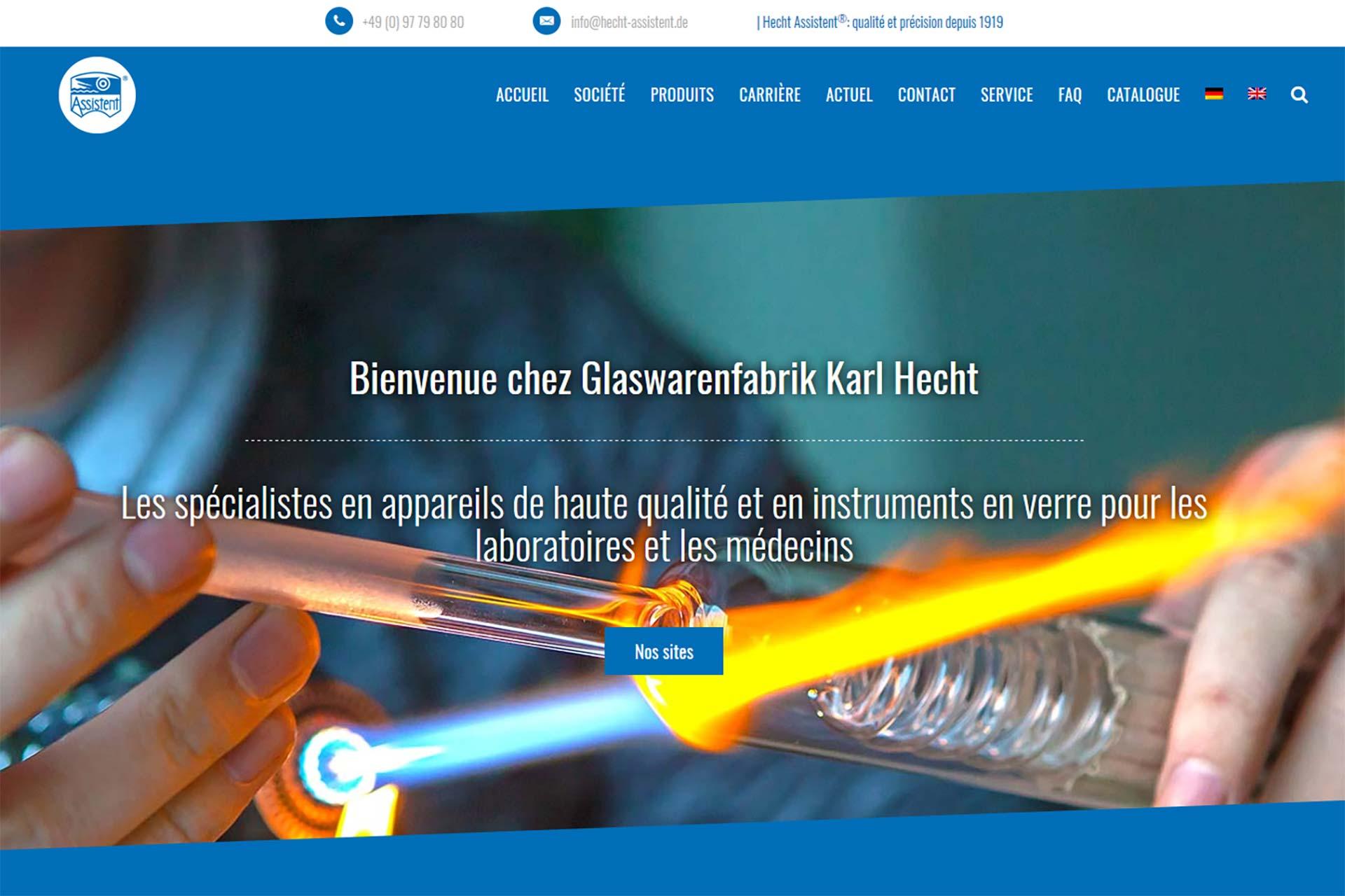 Nouvelle site Web de Karl Hecht GmbH & Co KG